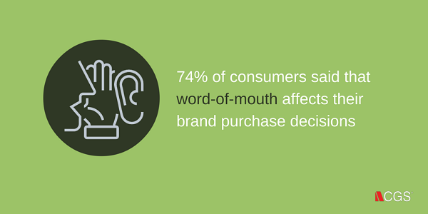 CGS, word of mouth, wom, decisions, purchase