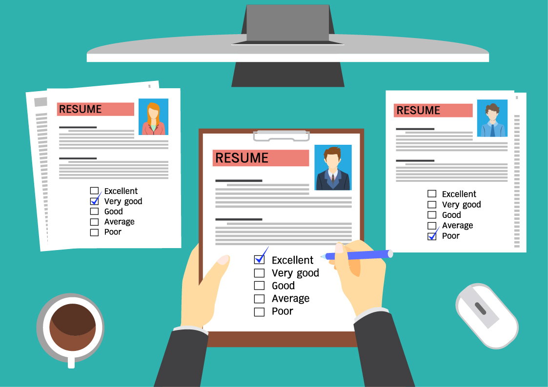 Selecting candidates, sourcing candidates, hiring