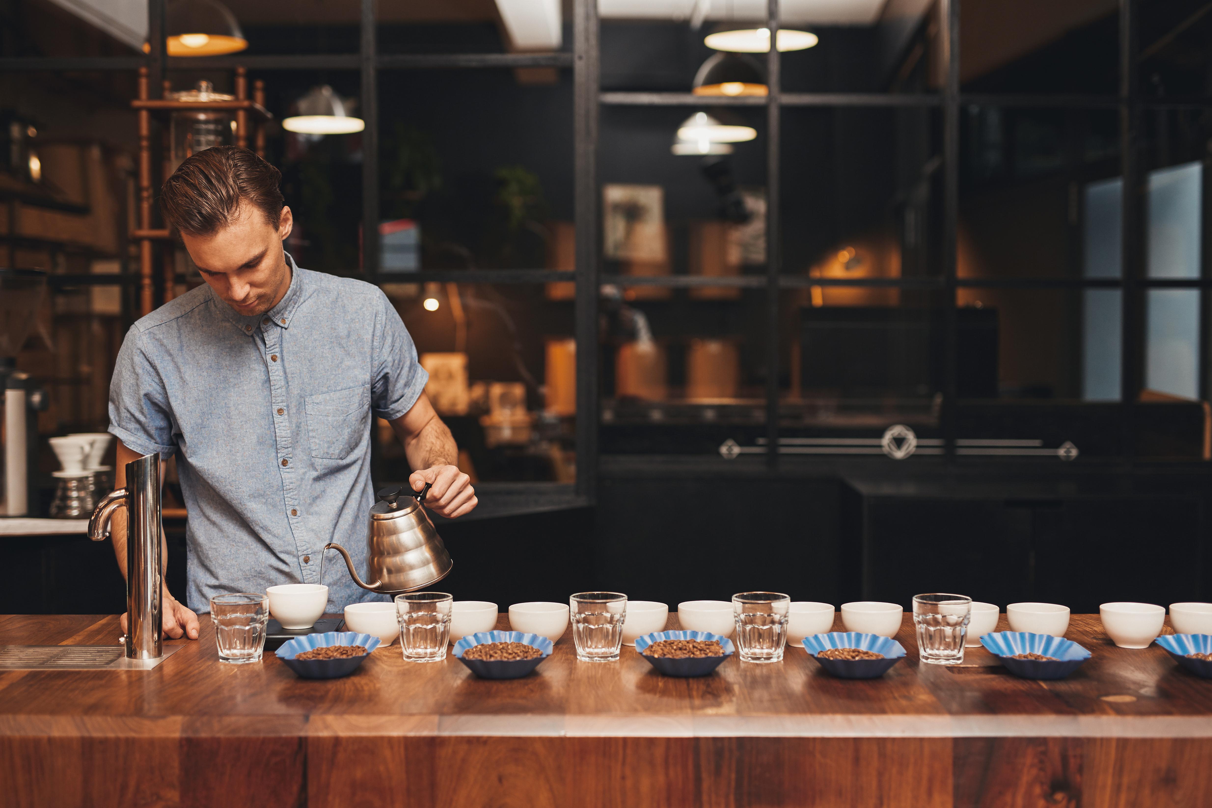 barista, coffee making, coffee brewing