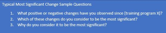 Change Sample Questions for learning and development