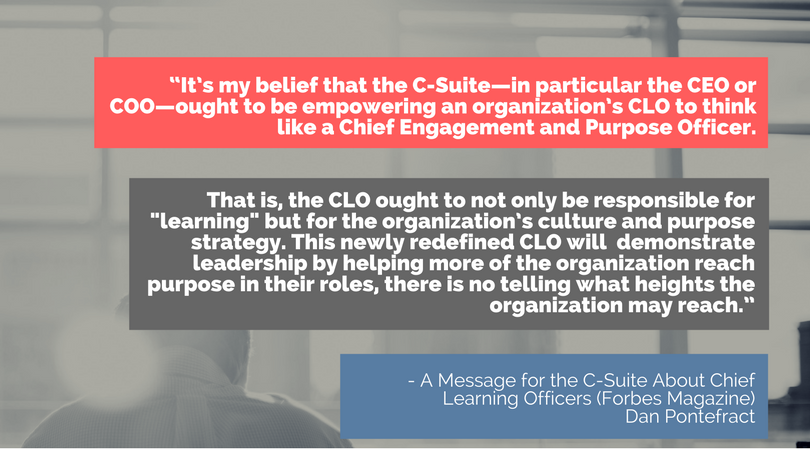 chief learning officers quote, forbes quote, learning and development leadership, c-suite learning leaders, CLOs