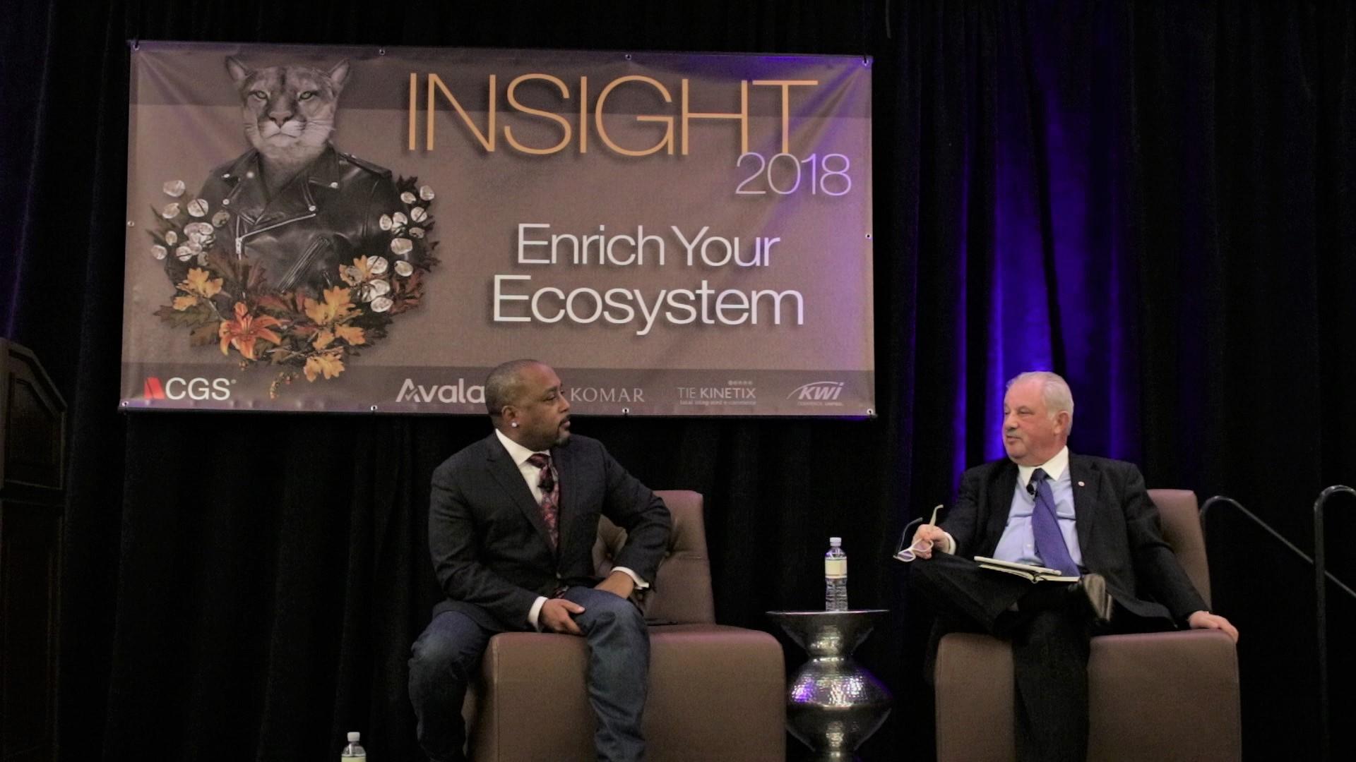 Daymond John and Phil Friedman speak at INSIGHT 2018