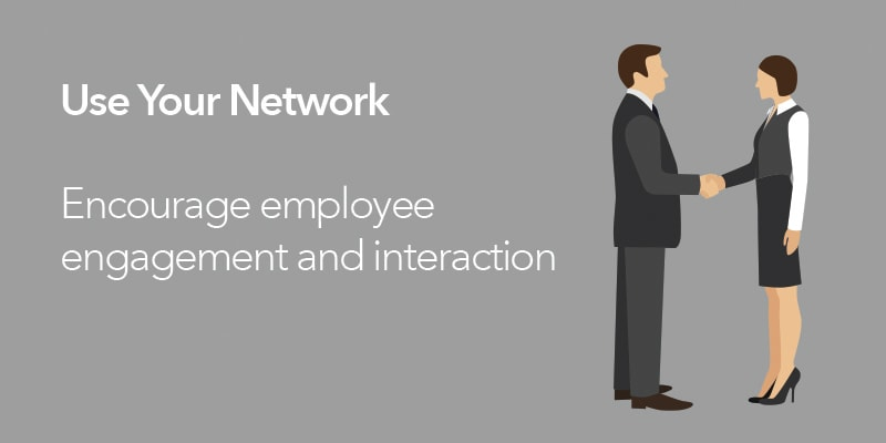 network, employee engagement, interaction,