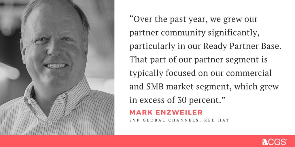Mark Enzweiler, SVP Global Channels, Red Hat on Channel Enablement