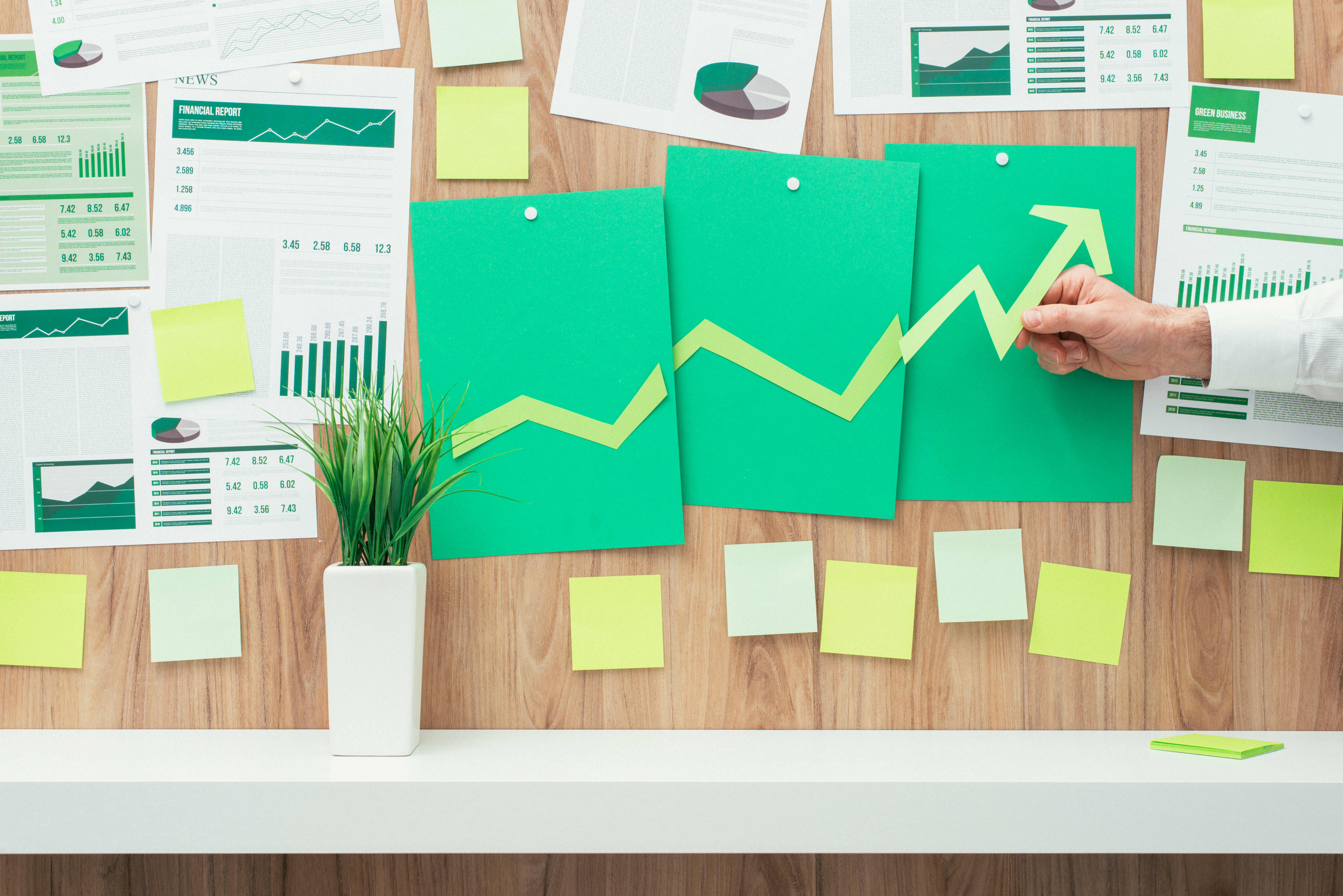 data analysis, data charts, business growth