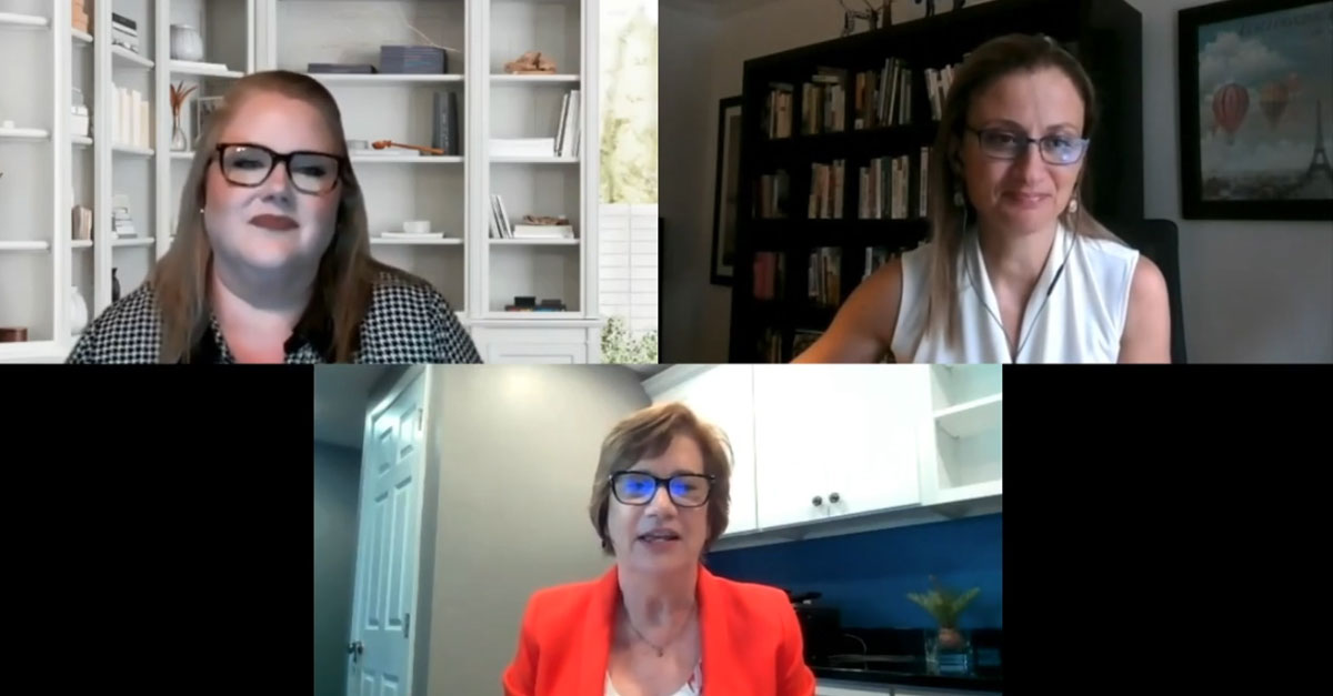 Speakers during the HCI fall webinar on 4 practices for L&D digital transformation
