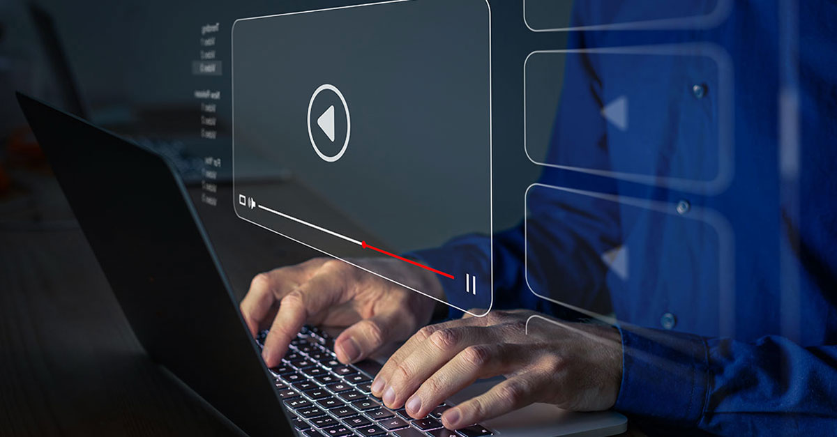 eLearning video tutorial taken online
