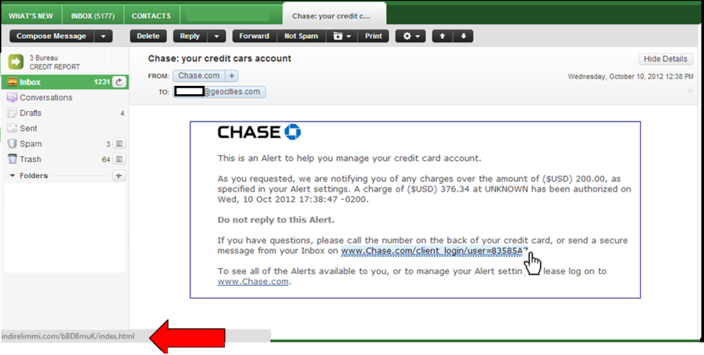 chase checks examples