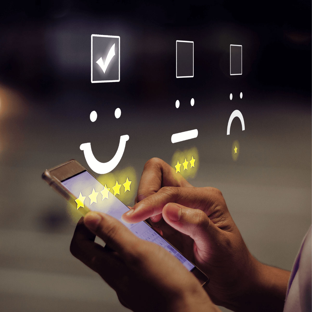 5 star customer service rating image