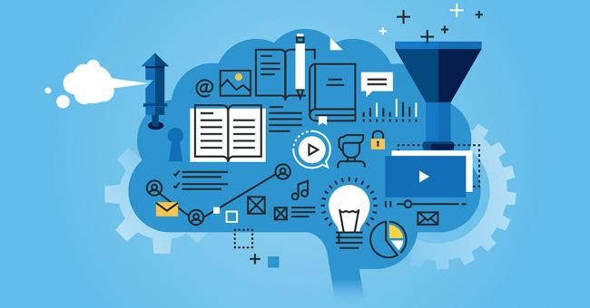Artificial intelligence and machine learning illustration