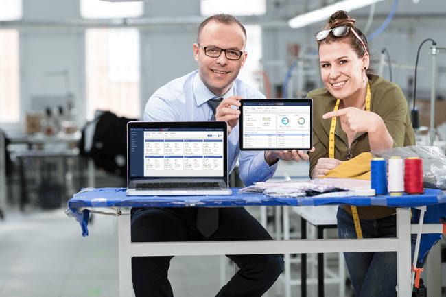 BlueCherry Shop Floor Control on tablet and laptop