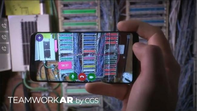 Augmented reality image of technical support