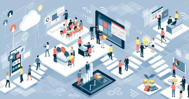 Business outsourcing illustration