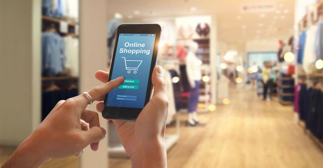 Shopping online while in store