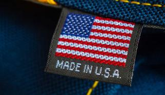 Made in America tag inside a garment