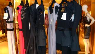 Victoria Beckham dresses hanging at Harrods