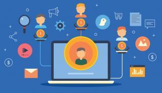Illustration of digital marketing channel partners