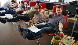 CGS Romania employees donating blood
