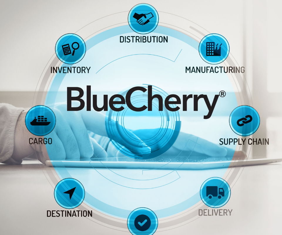 BlueCherry graphic for apparel, fashion, and footwear erp, shop floor control, and plm