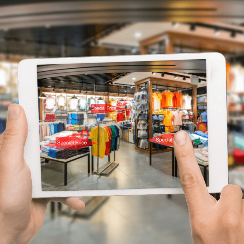 Augmented reality for retail and hospitality learning and training